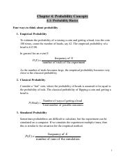 Stats Ch. 4 notes