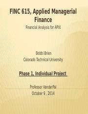 finc615 phase 1 db2 There are tons of free term papers and essays on abc healthcare colorado technical university on  managerial finance finc615  phase 1 db2 will gather data.