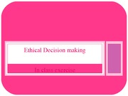 ACCY 225 Ethical Decision making in class exercise