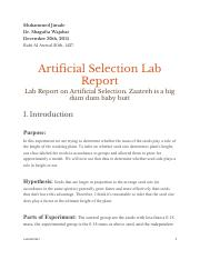 Artificial Selection Lab Report.pdf