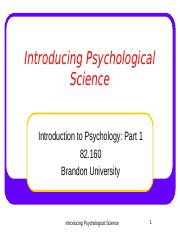 Intro Psych Ch 1. (K. 2018) INTRODUCTION AND HISTORY OF PSYCHOLOGY.ppt