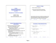 CS 162 Operating Systems and Systems Programming Semaphores Lecture Notes