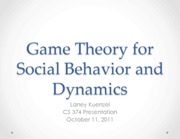 game theory for social behaviors