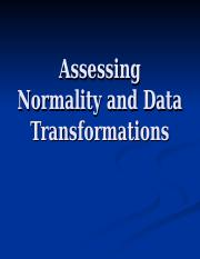 AssessingNormalityandDataTransformations