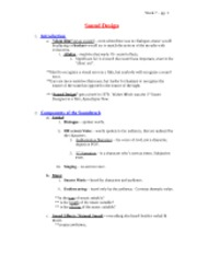 Lecture Notes, Wk 7