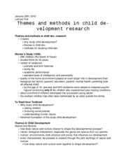 Themes in Child Development Research