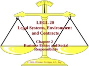 LEGL 20 - Ch 02 - Business Ethics and Social Responsibility