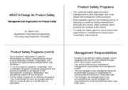 Management and Organization for Product Safety