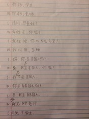 Chinese Questions - Homework