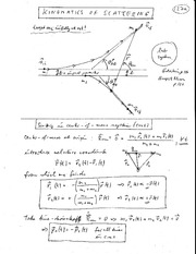 Physics 330b_Class Notes on Classical Scattering Theory - Kinematics