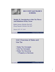 Module 14 Intro to Sales Theory