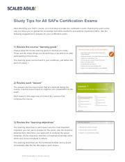 Study Tips for All SAFe Certification Exams.pdf