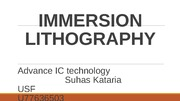 IMMERSION LITHOGRAPHTY
