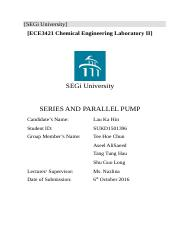 Experiment3 Series and Parallel Pump by Lau Ka Hin