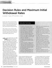 Decision Rules and Maximum Initial Withdrawal Rates