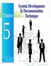 Chapter 5 - System Development  Documentation techniques