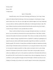 Honors 1020- paper 3
