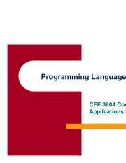 15 ProgrammingLanguages