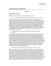 Appendix E Collaboration Worksheet