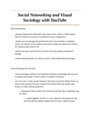 Social Networking and Visual Sociology with YouTube