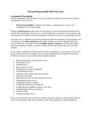 Assignment--Personal Responsibility Essay.pdf