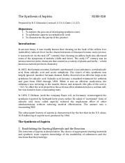 The Synthesis of AspirinF15.docx
