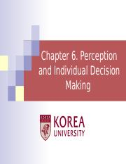 Ch 6. Perception & Individual Decision Making