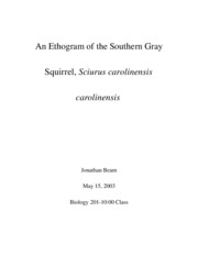 An Ethogram of the Southern