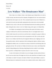 Lew Wallace Paper