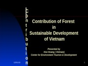 The contribution of Forest in Sustainable Development
