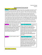 The Joy Luck Club Dialectical Journal