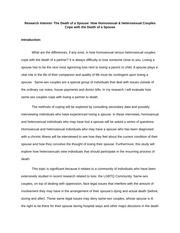 Final Proposal Death and Dying Research Topic
