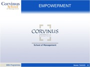2HRM Empowerment MBA 2014