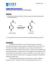 Expt4 Synthesis of Phenacetin S18.docx