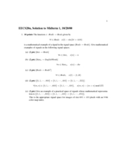 Electrical Engineering 20N - Fall 2000 - Midterm 1