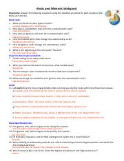 Rocks and Minerals Webquest.pdf - Rocks and Minerals ...