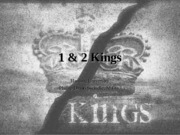 1 & 2 Kings (Partial)