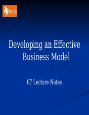 07 Developing a Business Model  Lecture Notes.pptx