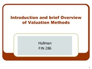 1 - Overview of Valuation Methods