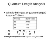 Quantum Length Analysis