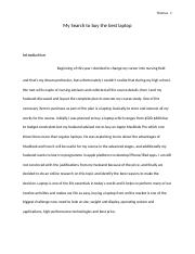 ENG 101 Lesson 1 Assignment - Evaluation Essay
