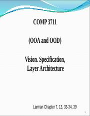 7.1.Vision, Spec and Lay Architecture