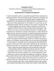 sample cda competency statement 5