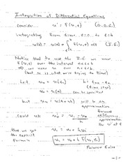 Class Notes 4 - ODE Integration, Truncation Error and Stability