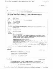 OSH 3401 Unit III Assessment