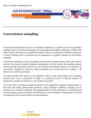 Convenience sampling - Research Methodology.pdf