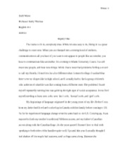 Inquiry 1 Rough Draft for English 111