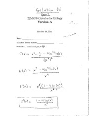 Quiz 7- Initial Value Problems and Differentiating Natural Logs-Solutions