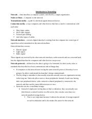 Introduction to Networking Chapter 1.1 Notes.docx