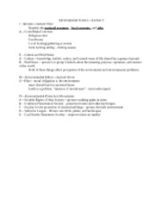 Environmental Science - Lecture 5 - Copy